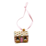 Mini 3D Gingerbread House Keychain Pattern