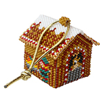 3D Reindeer Barn Christmas Village Ornament Pattern