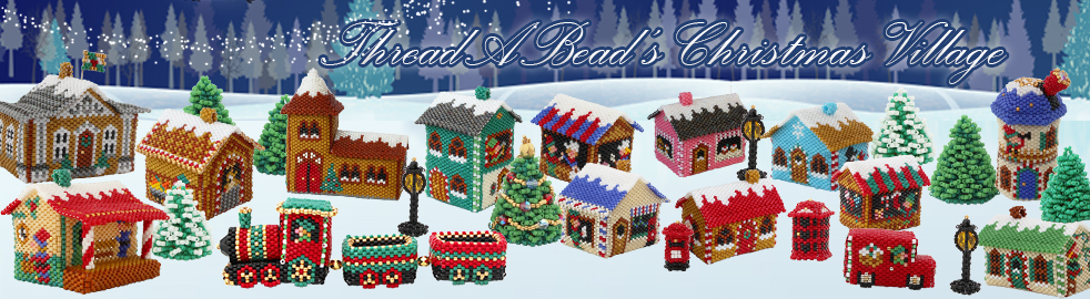Beaded train from the ThreadABead Beaded Christmas Village