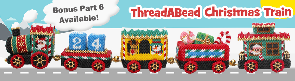 ThreadABead Christmas 2017 Project The Christmas Train Part 4