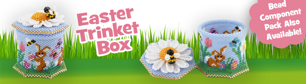 3D Easter Rabbit Egg Hunt Trinket Box