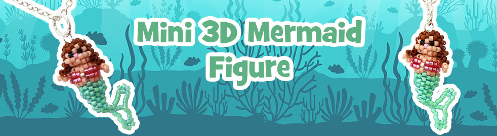 ThreadABead Mini 3D Mermaid Charm Figure Bead Pattern