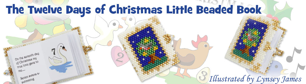 ThreadABead The Twelve Days of Christmas Little Beaded Book Bead Pattern