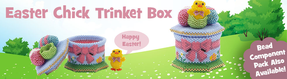 ThreadABead 3D Easter Chicken and Egg Trinket Box Bead Pattern