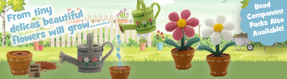 ThreadABead The Cheerful Little Potted Plant 3D Ornament Bead Pattern