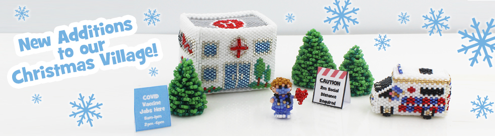 ThreadABead Christmas Village Elf Hospital and Ambulance Bead Pattern