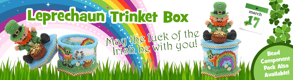ThreadABead The Lucky Leprechaun 3D Trinket Box Bead Pattern